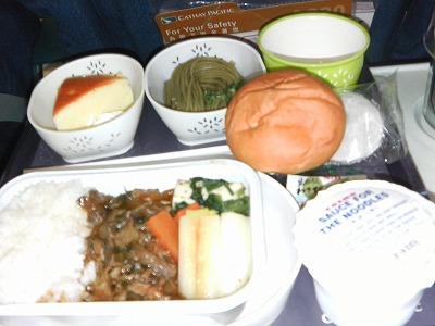 CX501便の機内食