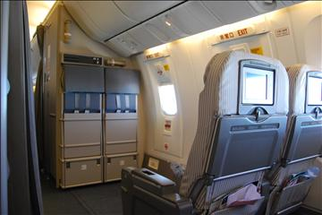 JL604便機内